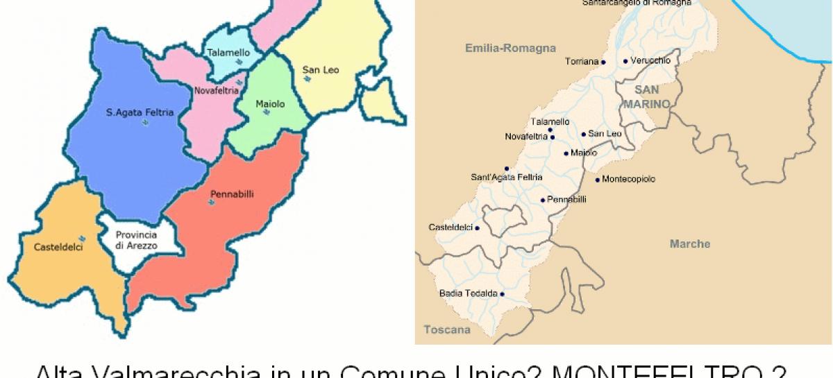 ALTA VALMARECCHIA: Fusione dei 7 Comuni in unico Comune?