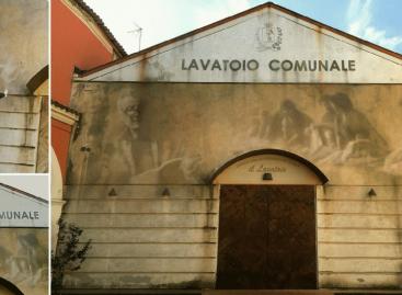 Murale-ritratto dedicato al poeta Raffaello Baldini