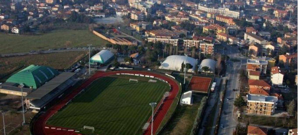 La partita di calcio tra Santarcangelo e Albinoleffe
