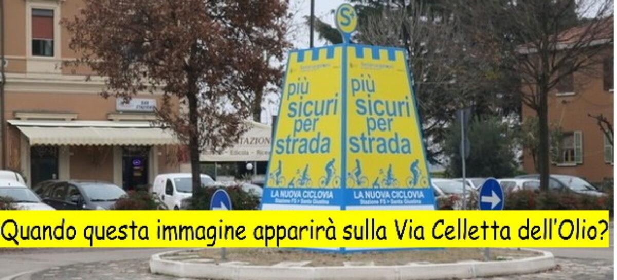 Santarcangelo – Via Celletta dell'Olio: PERICOLOSA